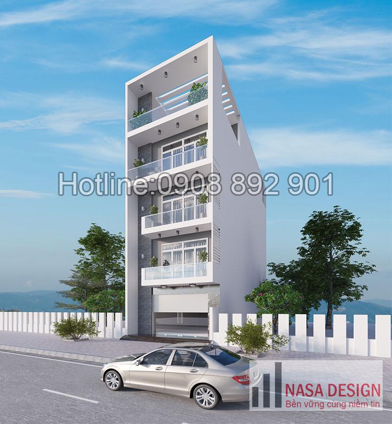 mẫu nhà phố đẹp 4 tầng tại bình dương