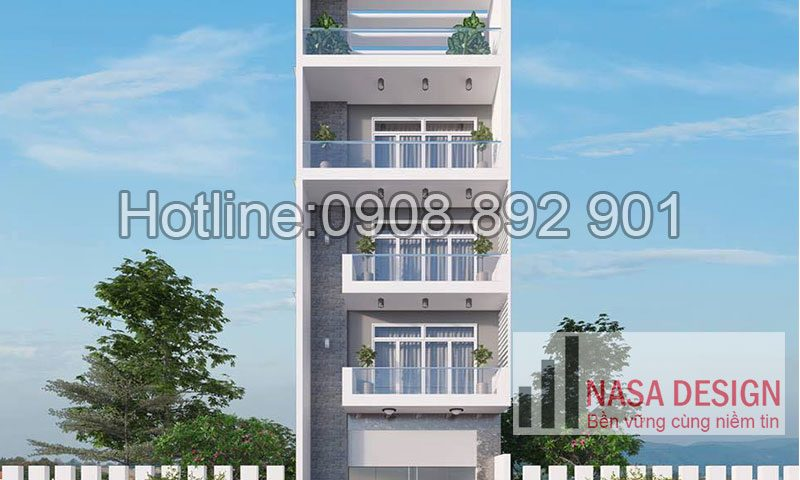 mẫu nhà phố 4 tầng đẹp bình dương