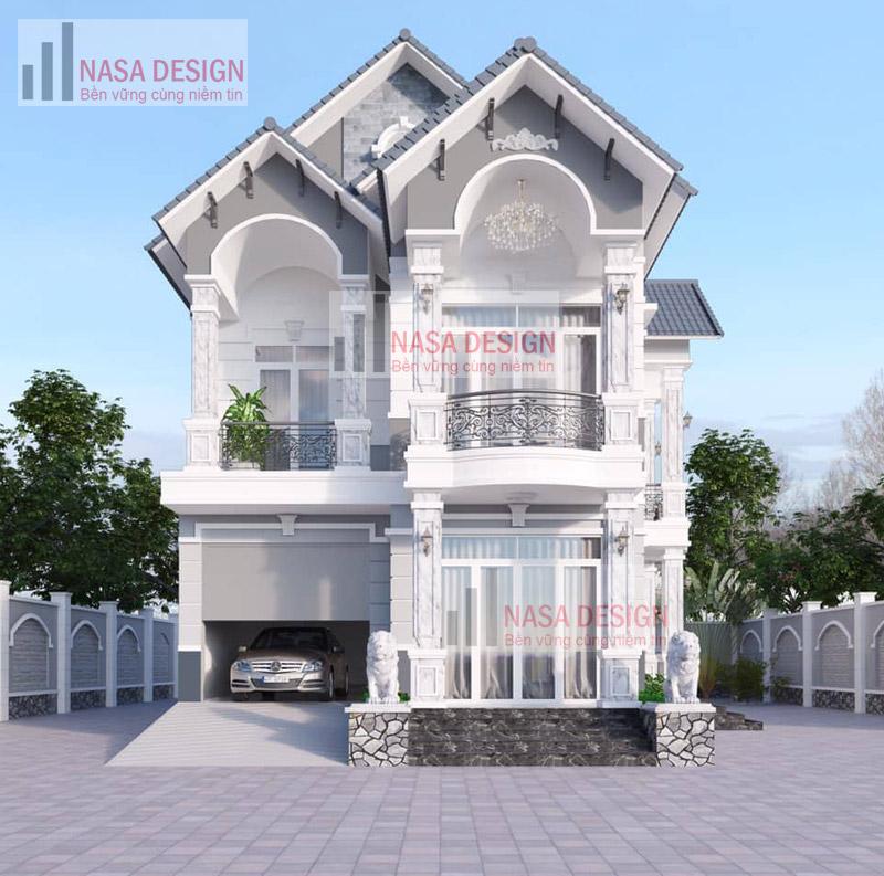 mẫu nhà biệt thự 1 lầu hiện đại thiết kế thi công tại bình dương