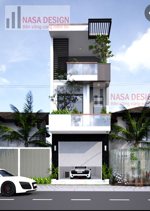 mẫu nhà phố 2 tầng lầu thiết kế hiện đại tại bình dương