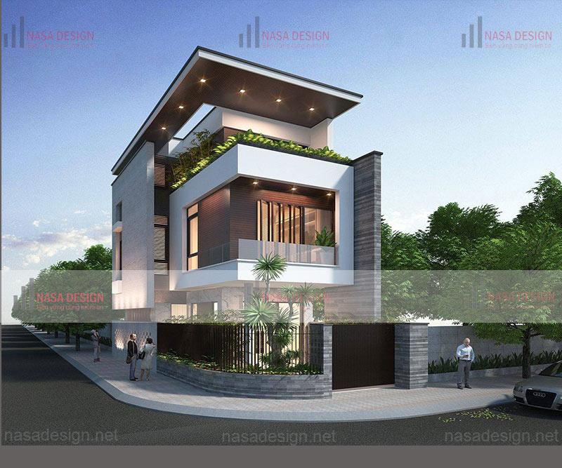 mẫu biệt thự 2 tầng hiện đại thiết kế đẹp tại bình dương