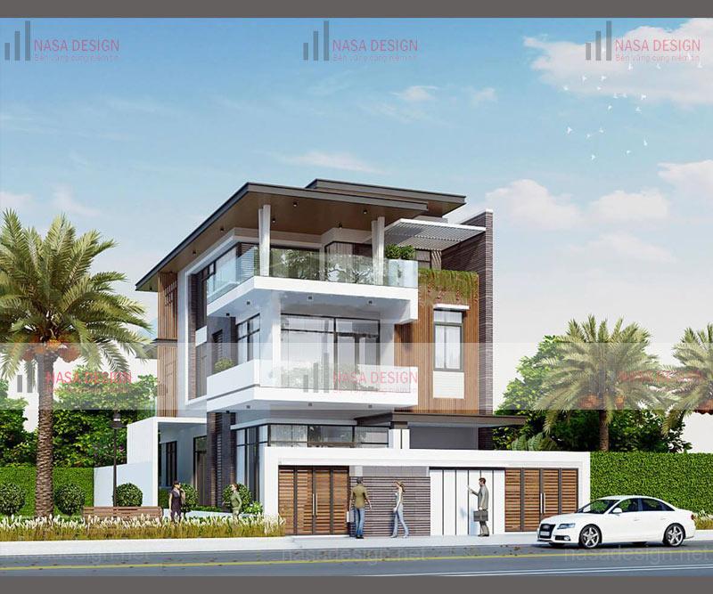 mẫu nhà biệt thự phố hiện đại đẹp - hình 6