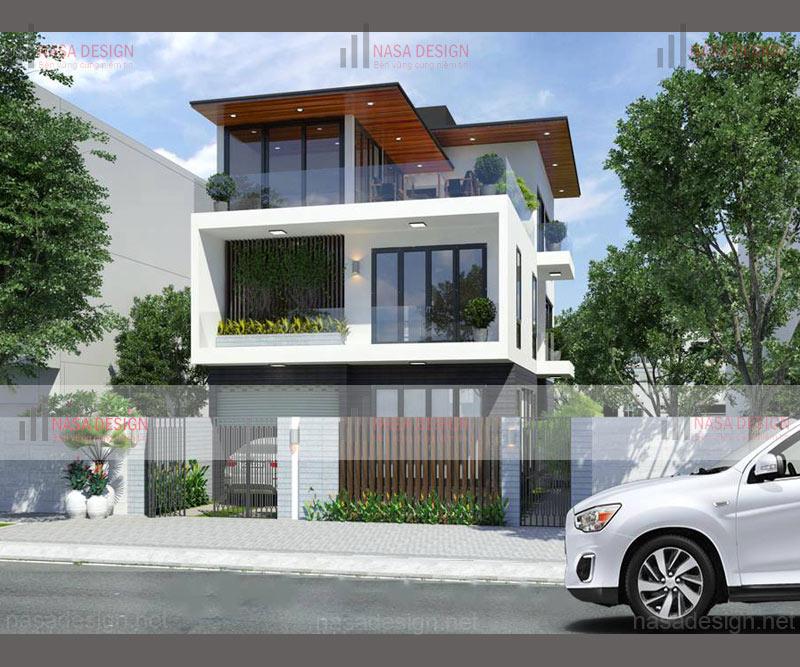 mẫu nhà biệt thự phố hiện đại đẹp - hình 7
