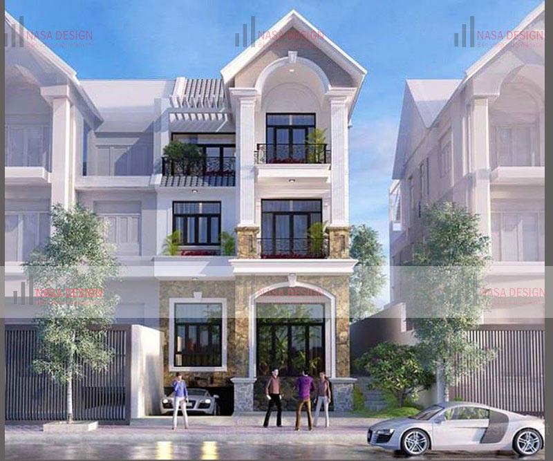 mẫu nhà biệt thự phố hiện đại đẹp - hình 8