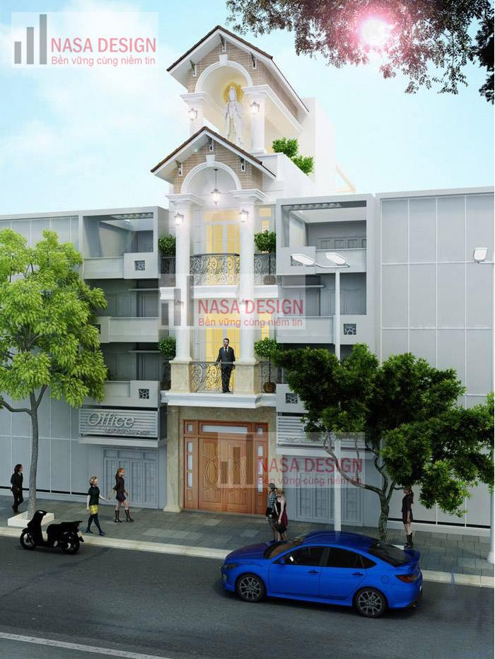mẫu nhà phố đẹp thiết kế hiện đại - m1