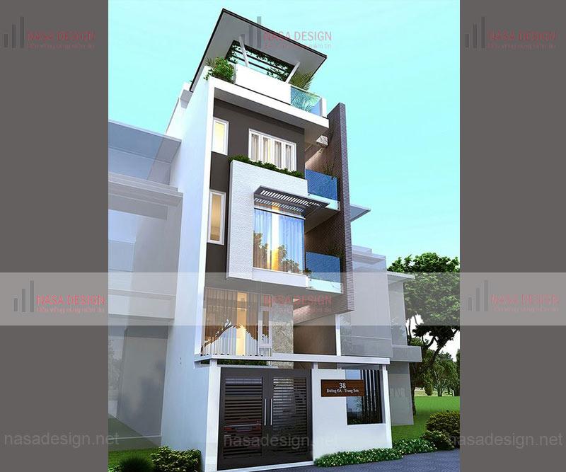 mẫu nhà phố đẹp thiết kế hiện đại - m10