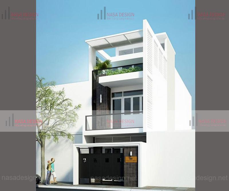 mẫu nhà phố đẹp thiết kế hiện đại - m11