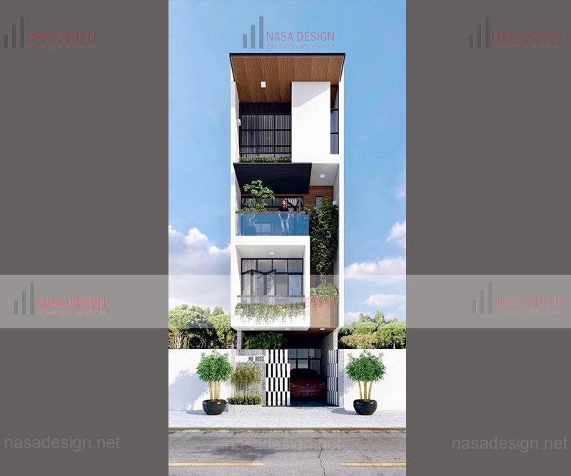 mẫu nhà phố đẹp thiết kế hiện đại - m3