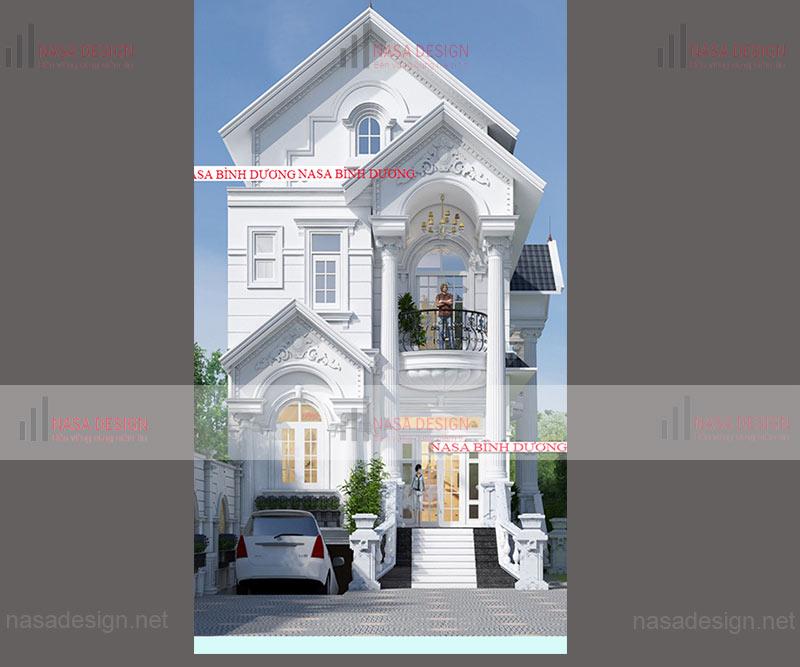 mẫu nhà phố đẹp thiết kế hiện đại - m5