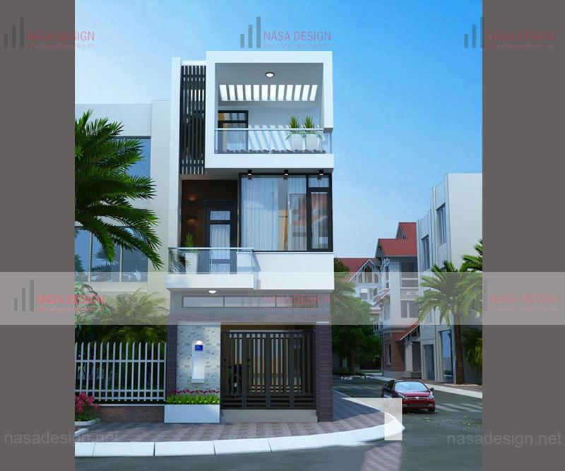 mẫu nhà phố đẹp thiết kế hiện đại - m6