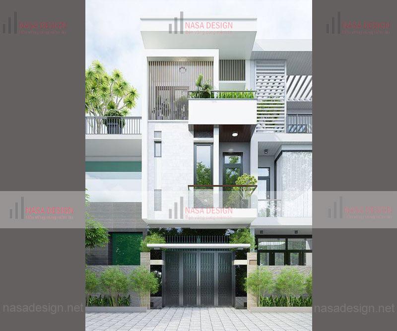 mẫu nhà phố đẹp thiết kế hiện đại - m7