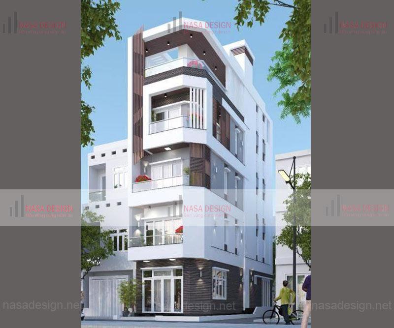 mẫu nhà phố đẹp thiết kế hiện đại - m8