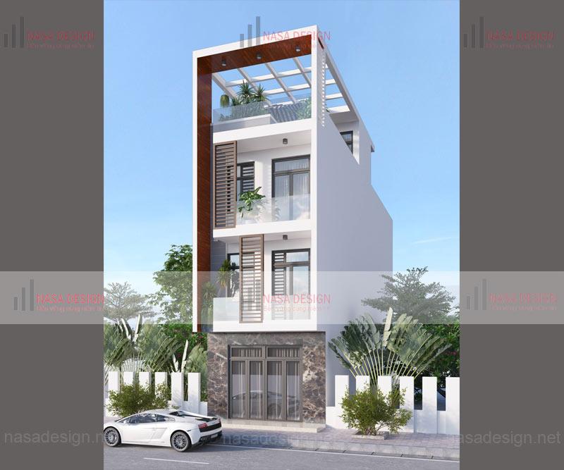mẫu nhà phố đẹp thiết kế hiện đại - m9
